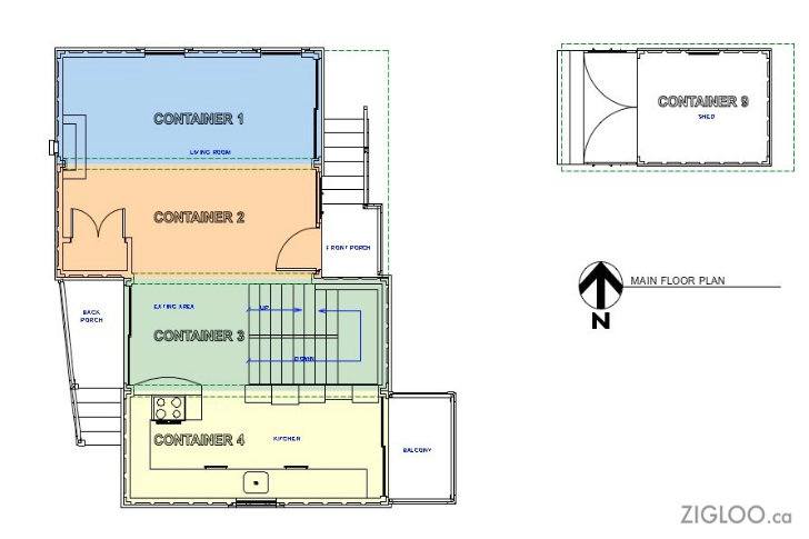 Zigloo domestique shipping container house is up for sale One floor house plans canada