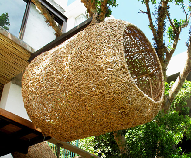Porky Hefer S Cozy Human Nests Hang From The Treetops
