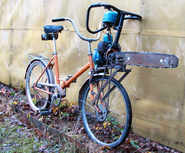 Insane russian attack bike is powered by chainsaw inhabitat innovation greentooth Choice Image
