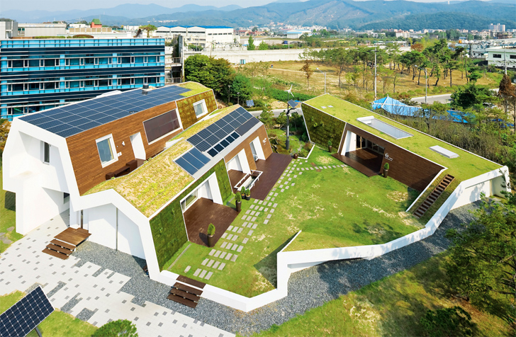 E Is A Verdant South Korean Home Blanketed In Greenery