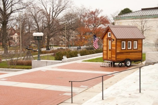 Tumbleweed Tiny House Company, Tumbleweed, Tumbleweed XS, Toledo Museum of Art, Ohio, The Andersons, The Lathrop Company, tiny homes, green design, sustainable design, eco design, Jay Shafter, fundraising, auction, eBay,