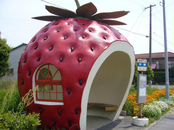 Giant Fruit-Shaped Bus Stops Line Streets in Japan & Fruit-inspired Design | Inhabitat - Green Design Innovation ...