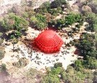 SITBON Wins PFFF Inflatable Architecture Competition With Glowing Red Grenade Pavilion