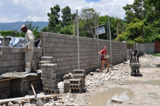 Haiti, earthquake, disaster, rebuilding, EDV, security wall, disaster recovery,