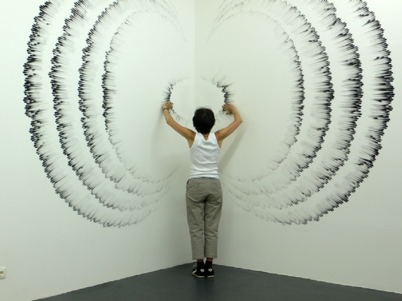 Fingerings: Judith Braun Draws Amazing Carbon Wall Art With Just Her ...