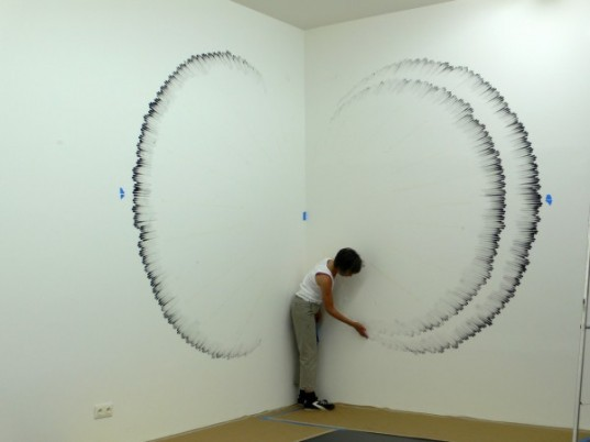 judith braun, fingerings, carbon finger paintings, charcoal finger drawings, green art, minimal materials, temporary artwork
