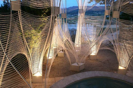 green design, eco design, sustainable design, temporary pavilion, nARCHITECTS, Savannah College of Art and Design, Provence, France, LaCoste, String Pavilion