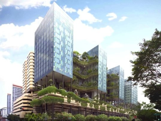 Groundbreaking Park Royal Tower Is Draped With Curtains Of