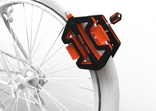 Yu-Ting Cheng, Cheng-Tsung Feng, pedal lock, bicycle theft, bike locks, theft prevention, transport design, green transport, cycling accessories
