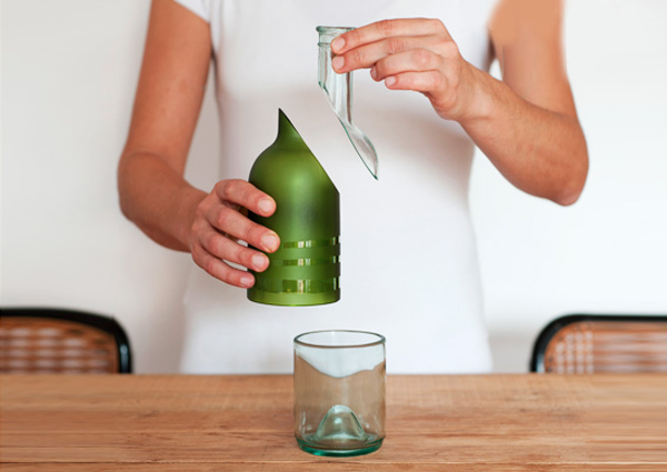 Pure Bottle Is A Recycled And Recyclable Table Set Made From A