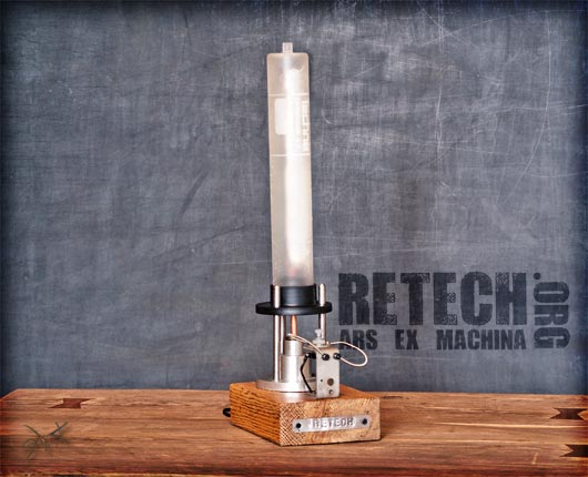 ReTech, salvaged materials, recycled lamps, lamp design, green lamp design, sustainable furniture design, repurposed industrial materials, reused objects