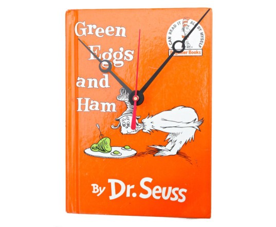 vintage book clocks, recycled book clock, book clock, recycled book, green design, sustainable design, recycled materials, sustainable clock, eco clock, green interiors