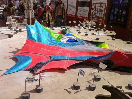 Maia Anthea Marinelli, Wind Playground, wind sculptures, wind art, recycled sails, eco art, kinetic sculptures, green design, recycled materials, sail art, sail sculptures