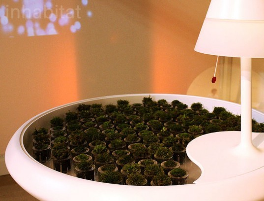Biophotovoltaics, BPV, Moss, Table, Green design, Green furniture, bio energy harvesting