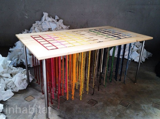 order in chaos, Denis Drouet, tables for kids, kid furniture, furniture for children, eco friendly table, interactive designs, designs for kids