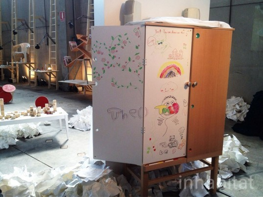 cabinet, hide and show, drawing, children, play, chengsi, hdk, child culture design, milan design week