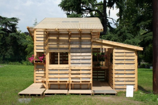 6 Pallet Architecture, I-Beam Pallet House, shipping pallets, pallet architecture, shipping pallet, pallet