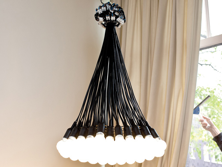85 lamps chandelier by droog gets eco friendly led update design aloadofball Image collections