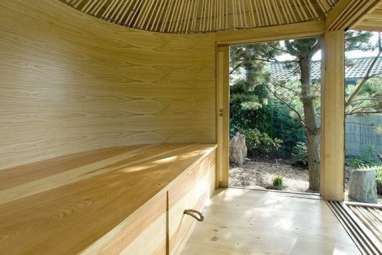 a1 s hat tea house is a minimalist garden shelter in the czech republic inhabitat green. Black Bedroom Furniture Sets. Home Design Ideas