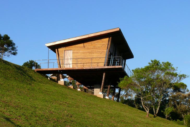 Eucalyptus House Is A Low Impact Brazilian Cabin On Stilts
