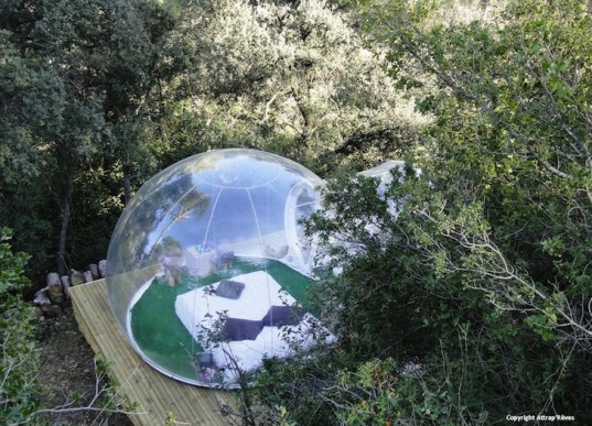 Attrap'Rêves, Marseille, hôtel, eco-tourism, Bubbletree, bubble tents, Pierre Stéphane, France, glamping, camping, transparent tents, eco-tourism, eco-design, sustainable design, green design
