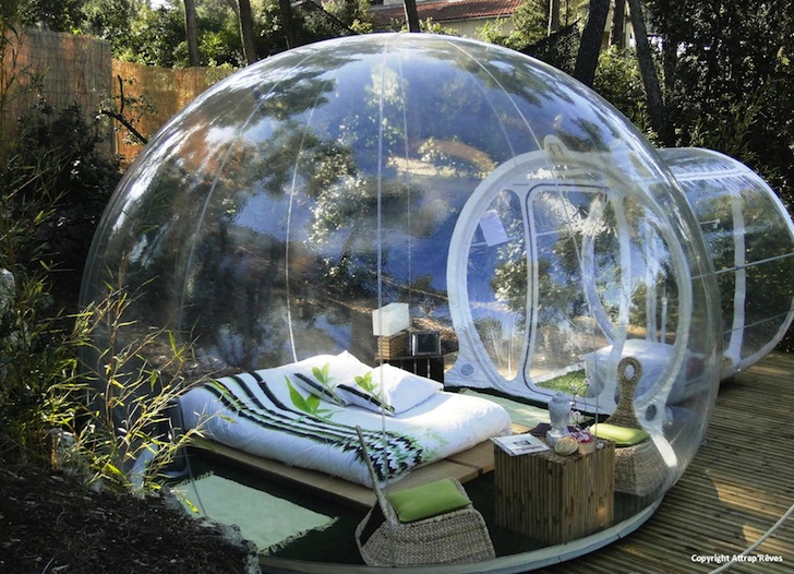 Attrapu0027Rêves Bubble Hotel is Made of Bubbletreeu0027s Transparent Pop-Up Tents & Attrapu0027Rêves Bubble Hotel is Made of Bubbletreeu0027s Transparent Pop ...