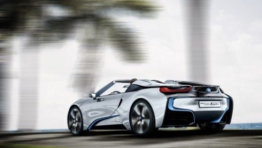 BMW, BMW i3, BMW i8, BMW i8 Concept Spyder, BMW plug-in hybrid, green transportation, lithium-ion battery, plug-in hybrid