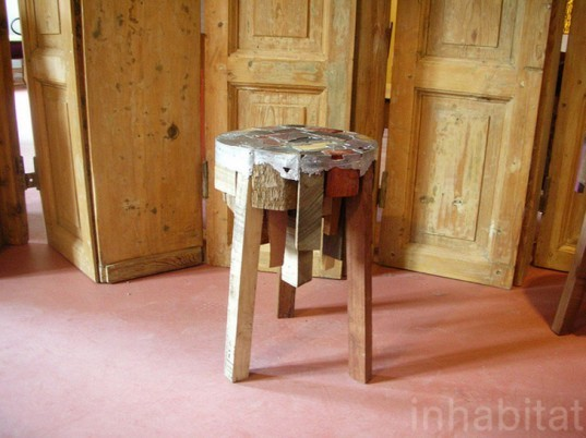 Bits of wood, Pepe Heykoop, Recycled materials, Cascina Cuccagna, Milan Furniture Fair, Eco design, sustainable design