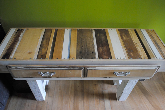 calico desk, mdc interiors, green design, recycled wood design, green interiors, eco furniture, recycled wood desk