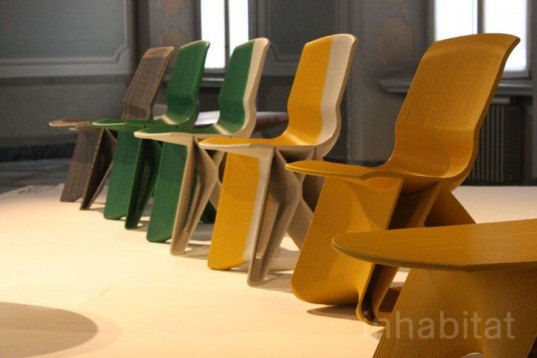 Dirk Vander Kooij, endless chairs, recycled material chairs, recycled materials, green furniture