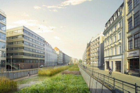 Flussbad, Realities United, berlin, spree river, river swimming pool, regenerative water project, global holcim award