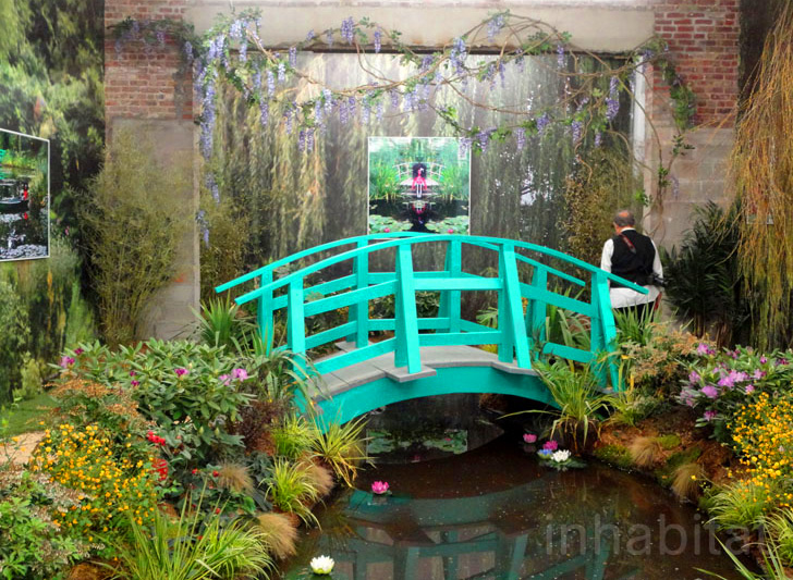 Monets french gardens recreated inside the hole nyc art gallery design workwithnaturefo