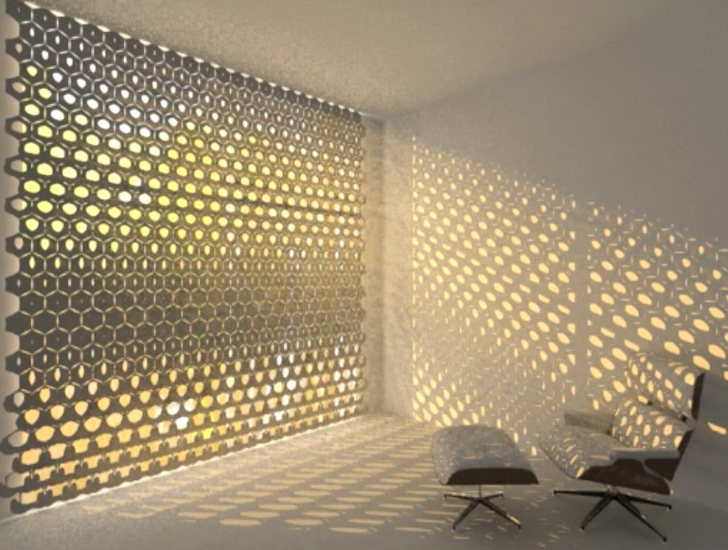 The Hex Curtain By Rael San Fratello Makes A Kinetic Light