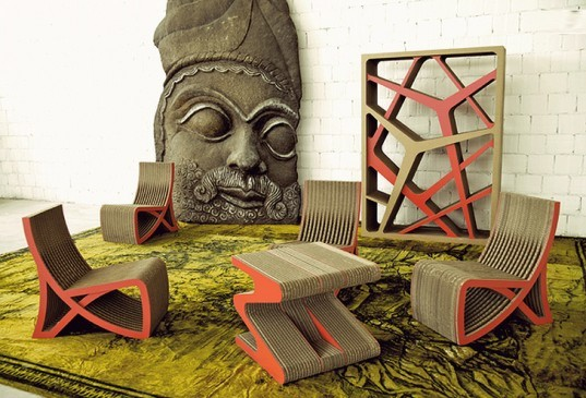 green design, sustainable design, eco design, cardboard furniture, IMISS collection