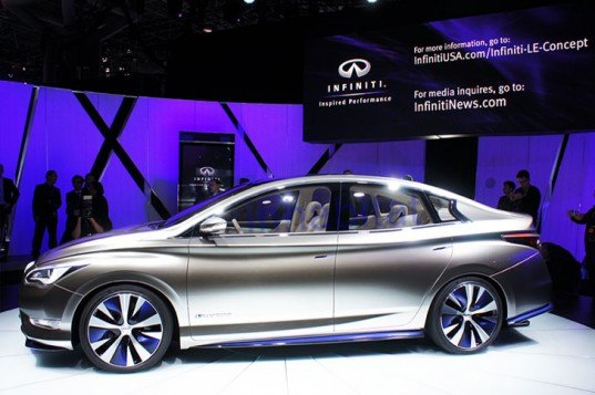 infiniti le, infiniti le electric vehicle, new york auto show, electric vehicle, ev, ny auto show, 2012 New York Auto Show, electric concept vehicle, green transportation, Infiniti, infiniti electric vehicle, nissan, wireless charging, electric car