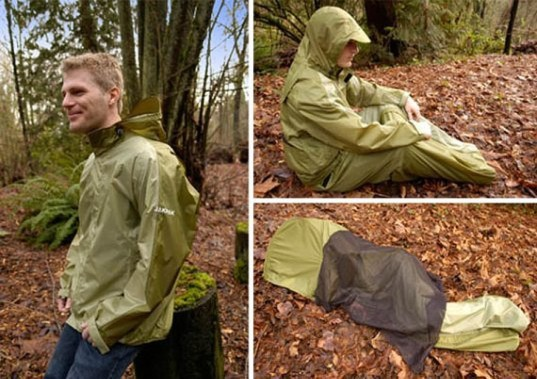 Jakpak, all-in-one jacket, sleeping bag tent jacket, camping gear, temporary shelter, waterproof jackets, camping tents