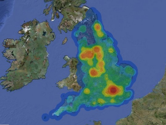 CHP, energy map, Department of Energy & Climate Change, British Heat Map, English Heat Map