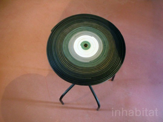green design, eco design, sustainable design, Pepe Heykoop, Milan Furniture Fair, recycled leather, remnant leather, Leather Loops Stool