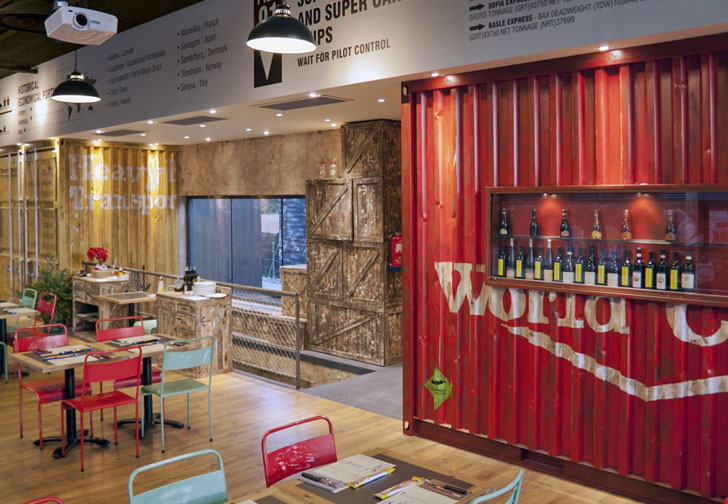 Los Sopranos Transforms Recycled Shipping Containers into Rustic ...
