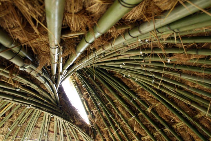 Iranian Architect Builds Sustainable Bamboo Dome From