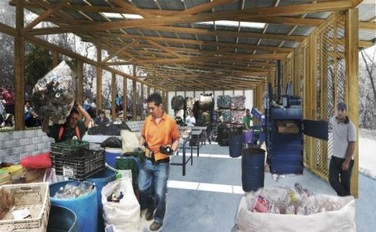 Recycling Center for Nosara, sLAB, recycling center, costa rica, NYIT, student project, student design build