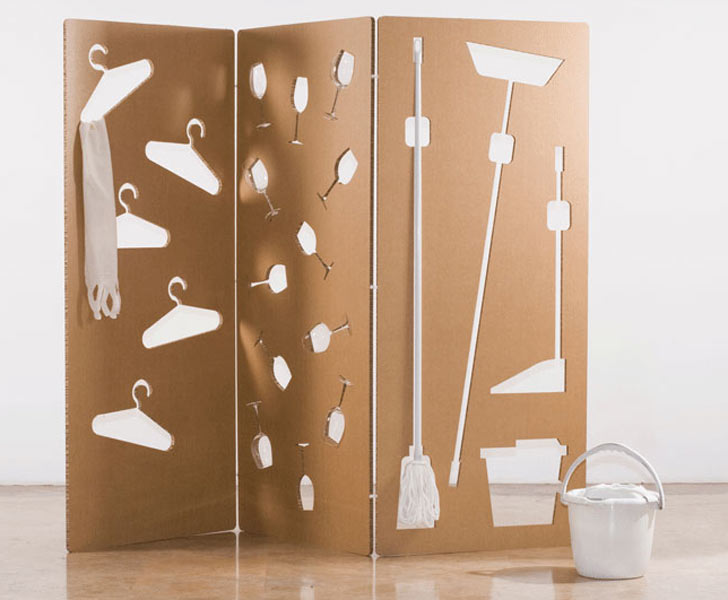 Sandra Cabello S Cardboard Wall Stores Everything From