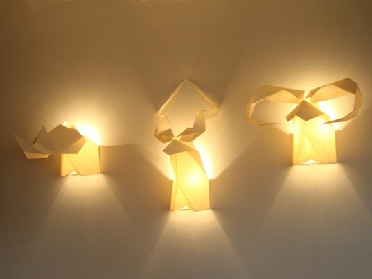 green design, eco design, sustainable design, Milan Design Week, Origami Lamp, Si Studio, Migration Lamp, Origamis Hunter, Sustainable Lighting