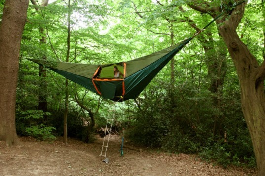 tentsile, portable tent, portable shelter, hanging tent, suspended tent, portable treehouse