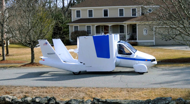 Terrafugia Flying Car Debuts At New York Auto Show On For 279 000 Inhabitat Green Design Innovation Architecture Building