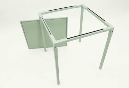 Fragment Table, Thomas Schnur, green furniture, salone satellite, eco table, green table, green furniture design, milan design week