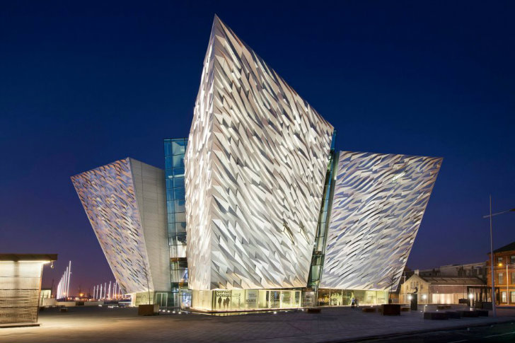 Shimmering titanic belfast museum celebrates the famous Famous architectural structures
