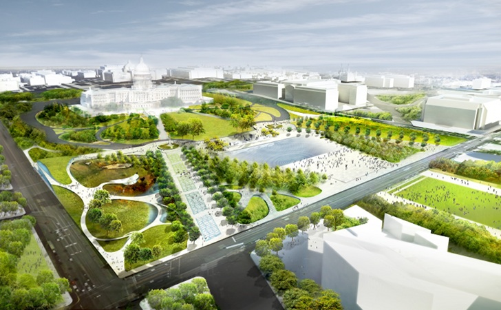 Diller Scofidio + Renfro Unveil Green Plans for the Future of the National Mall in Washington, D.C.