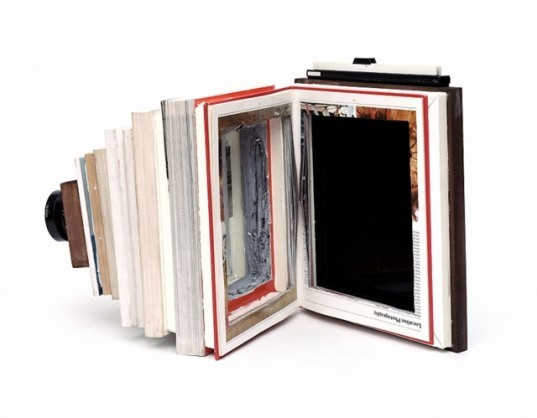 Taiyo Onorato and Nico Krebs, green camera design, biophile camera, inventive cameras, recycled books, book artwork, sustainable design