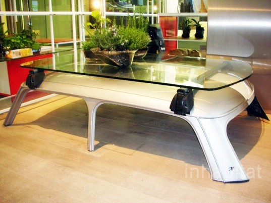 car table, recycled car table, recycle car part furniture, Stefano Canto, Artwo, green funiture, eco furniture
